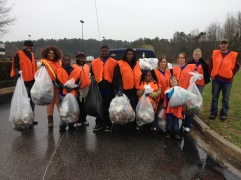 The Chase Team braved the weather to participate in the 2013 Great American Cleanup.